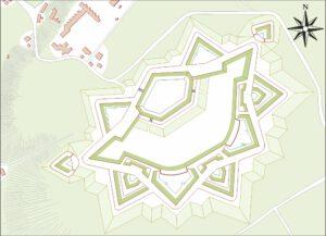 Luik, afbeelding van het fort La Chartreuse